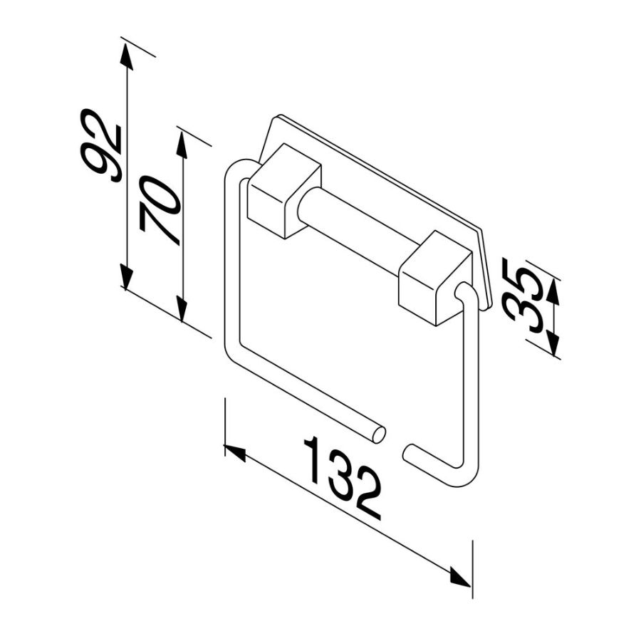 Standard closetrolhouder chroom m.veer Geesa