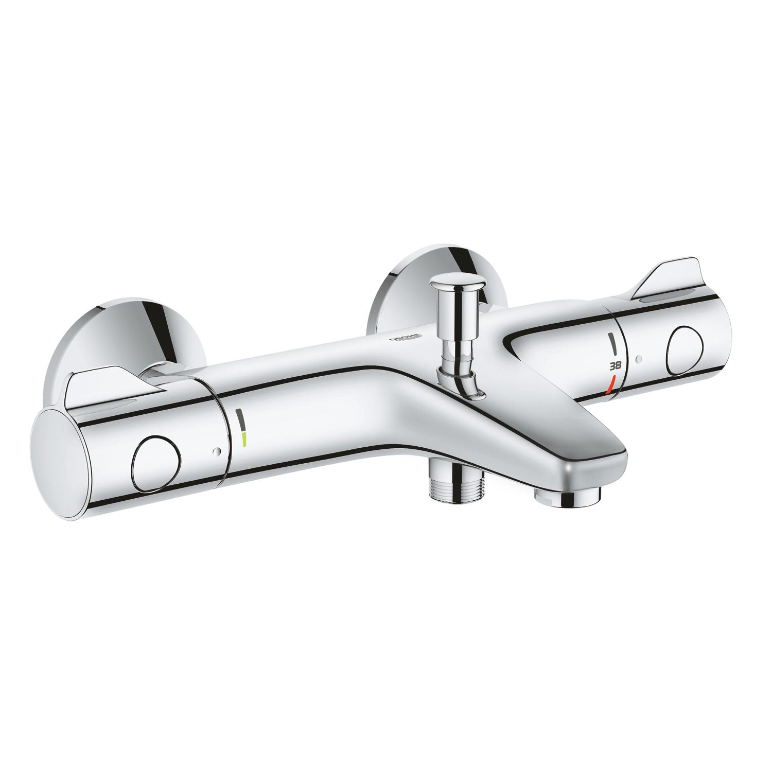Badthermostaat Grohtherm 800 150mm chroom m. s-kopp. Grohe