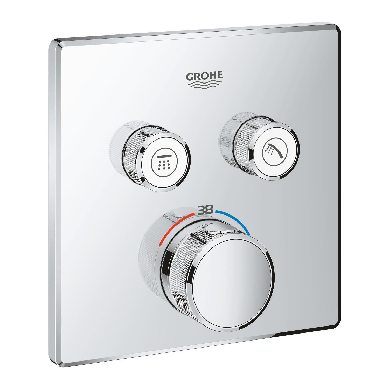 SmartControl thermostat. mengkraan chr. m.omstel z.inb.deel Grohe