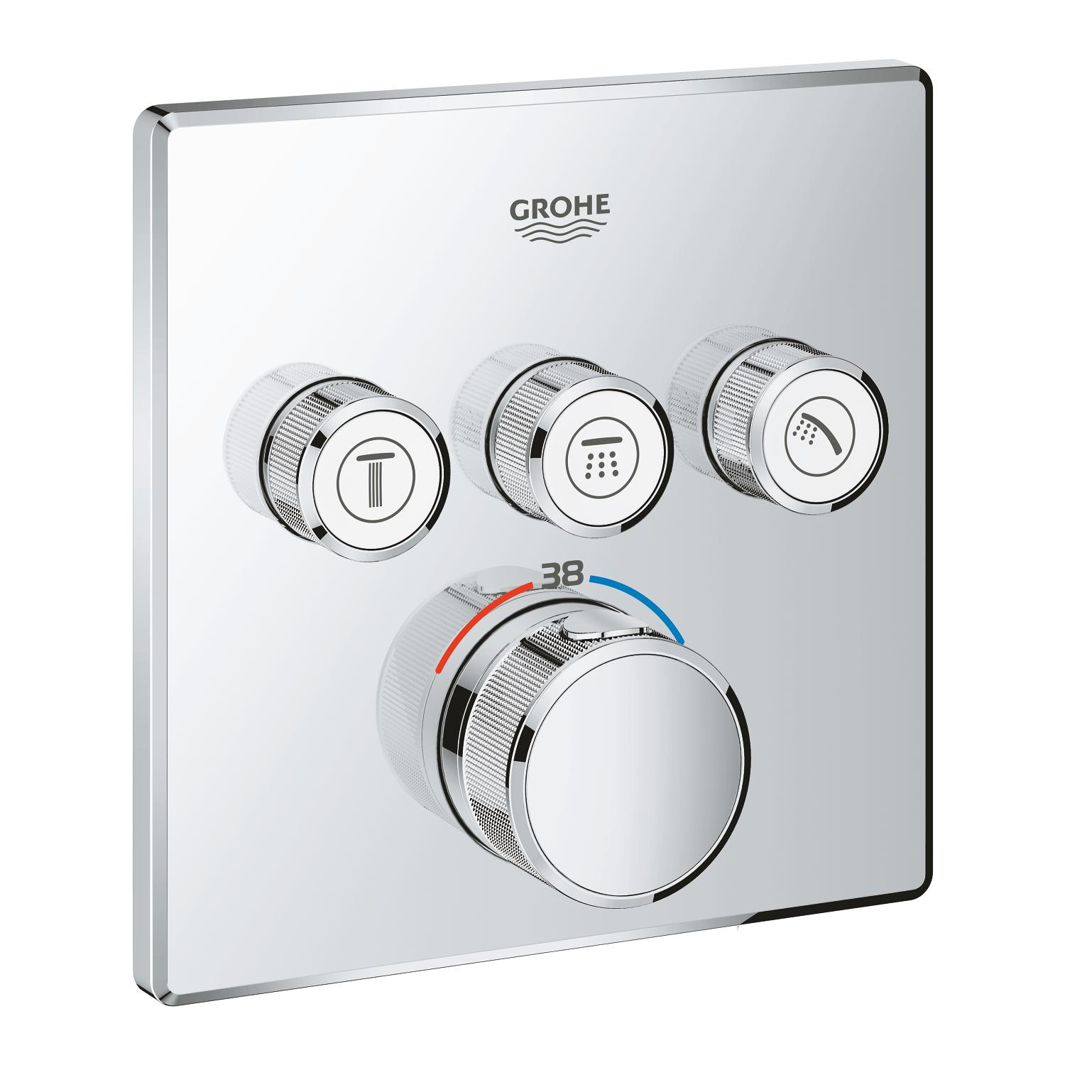 Grohtherm Smartcontrol opbouwdeel T m.3x omstel vierkant Grohe