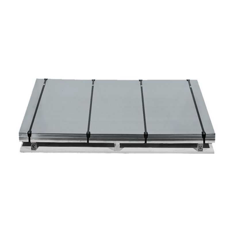 Plaat bladzink 3000x1000x0.8mm ca. 17.3kg blue grey Rheinzink