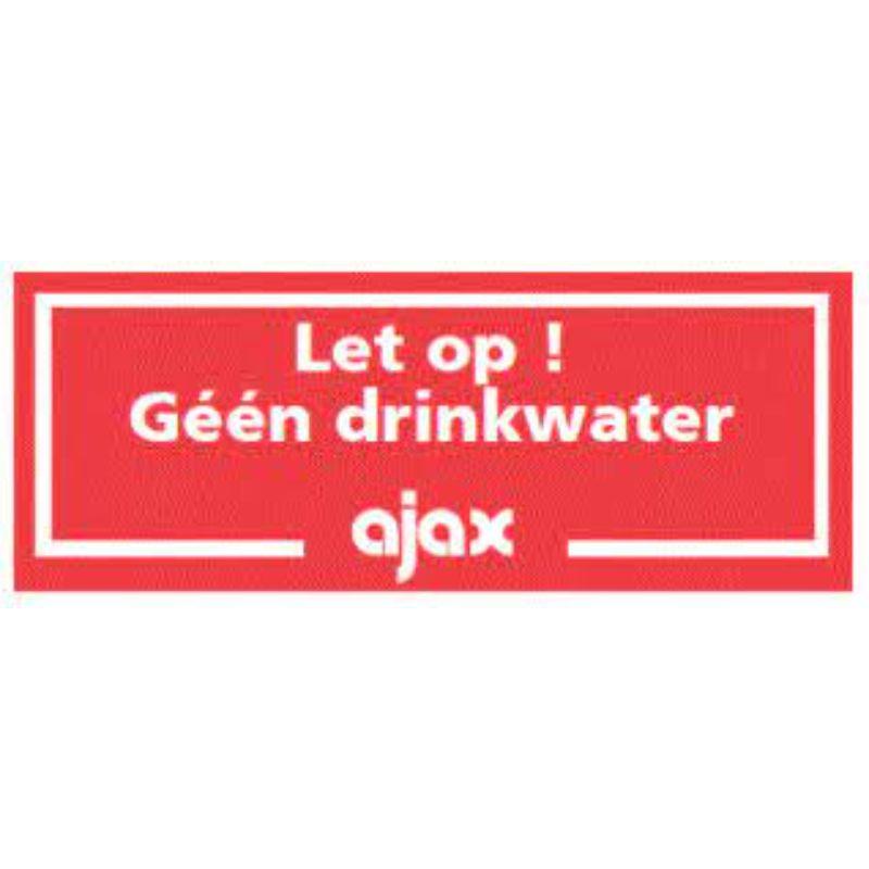 geen drinkwater ajax